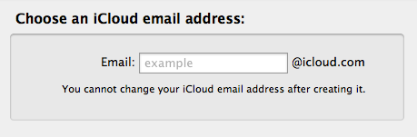 Choose an iCloud email address